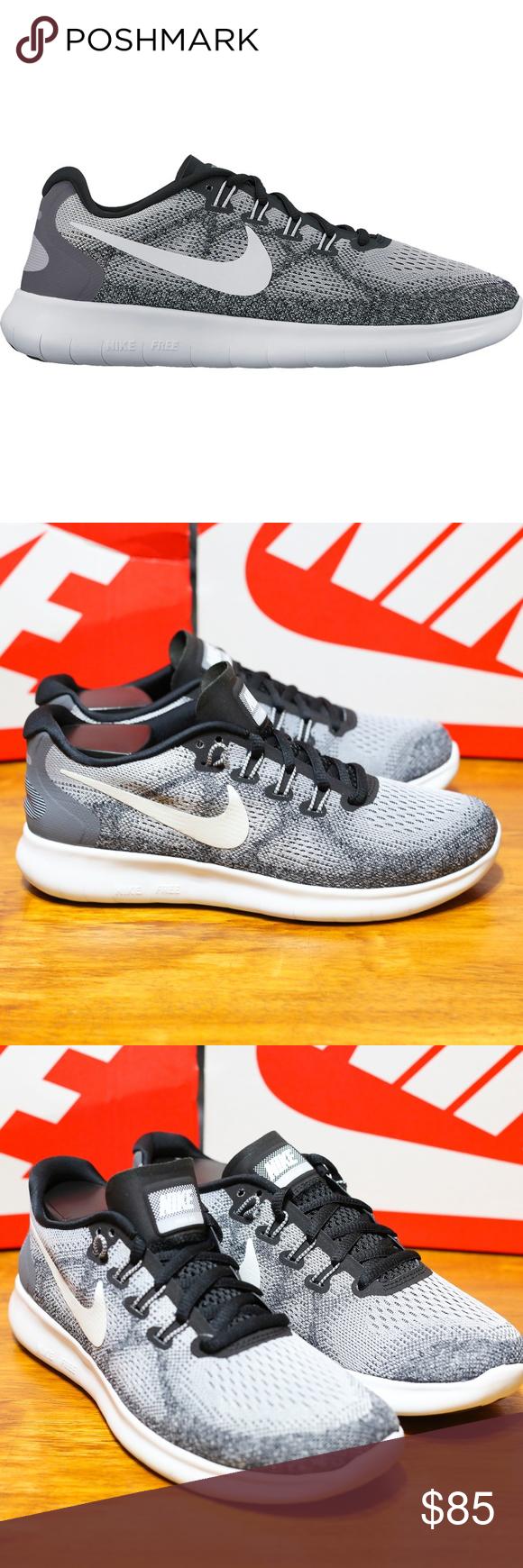 026fe45434cf Nike Womens Free RN Run 2017 Running Shoes Grey FK Nike Womens Free RN 2017  Running