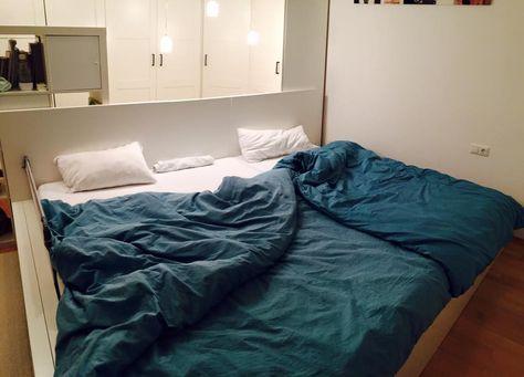 Malm Bett Anleitung ein traum in weiß familienbett aus ikea malm bettgestell