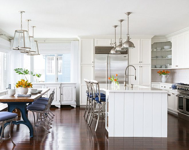 Industrial Kitchen Table Lighting: Kitchen. White Kitchen Painted In White Dove By Benjamin