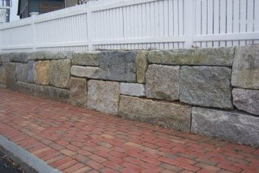 Reclaimed Wall Block | Stone Farm - Semi Dimensional Blocks Used To Make Three Foot High Retaining Wall