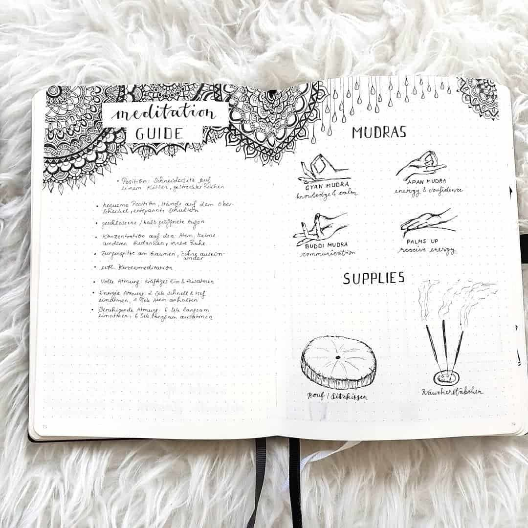 100+ Mandala bullet journal layours to release your inner