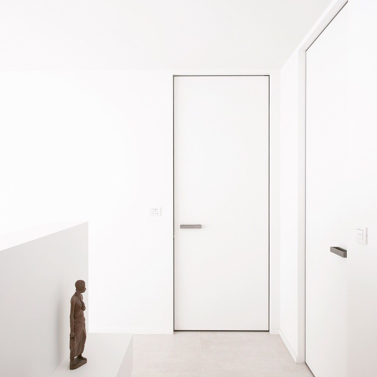 Frameless Interior Doors, Custom Made By Anyway Doors. The Built In Frame  Is Installed Before The Walls Are Finished. The Central Mounting Postion  Ensures A ...