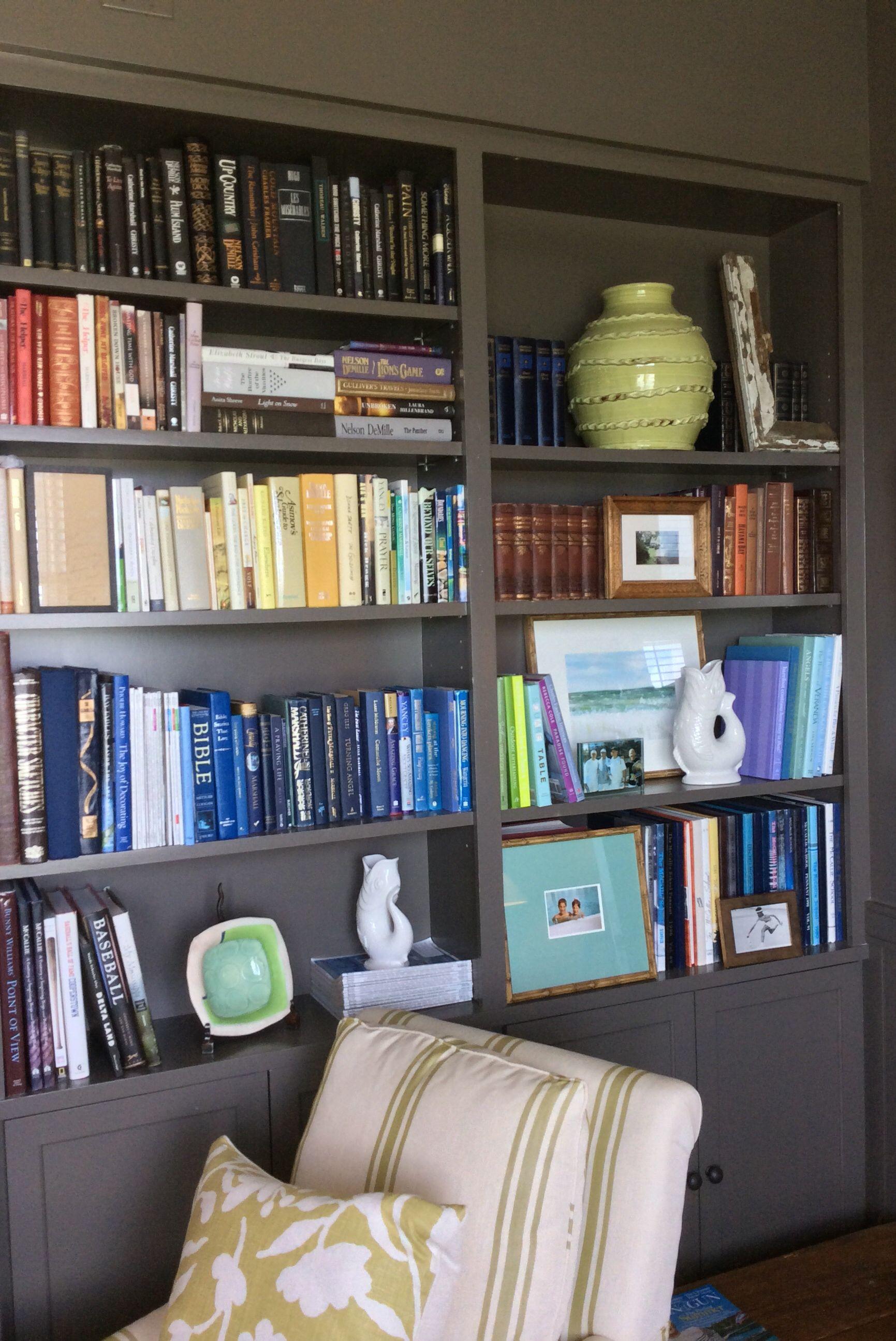 Susan Lesourd Interiors Walls, Bookshelves, Trim Benjamin Moore Deep Creek