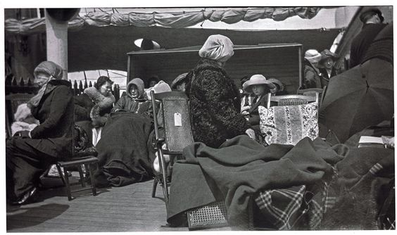 (10) The Brownie also enabled the average person to capture emotions involved within historic moments of strife and turmoil. Bernice Palmer, a passenger of the Carpathia, took pictures of Titanic survivors aboard the rescue ship on the morning of April 15, 1912 and later donated them along with her Brownie camera to the Smithsonian. Source: AmericanHistory.si.edu, Image: Encyclopedia-Titanica.org