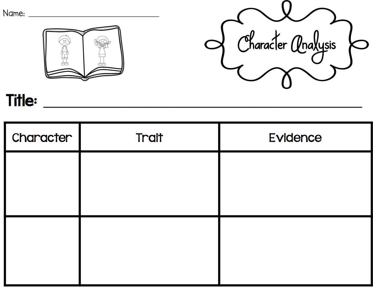 Worksheets Character Trait Worksheet sarahs first grade snippets teaching character analysis in the primary grades