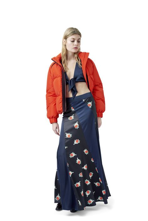 208e8088 High waisted maxi skirt with pleats - GANNI | G R U N G E ...