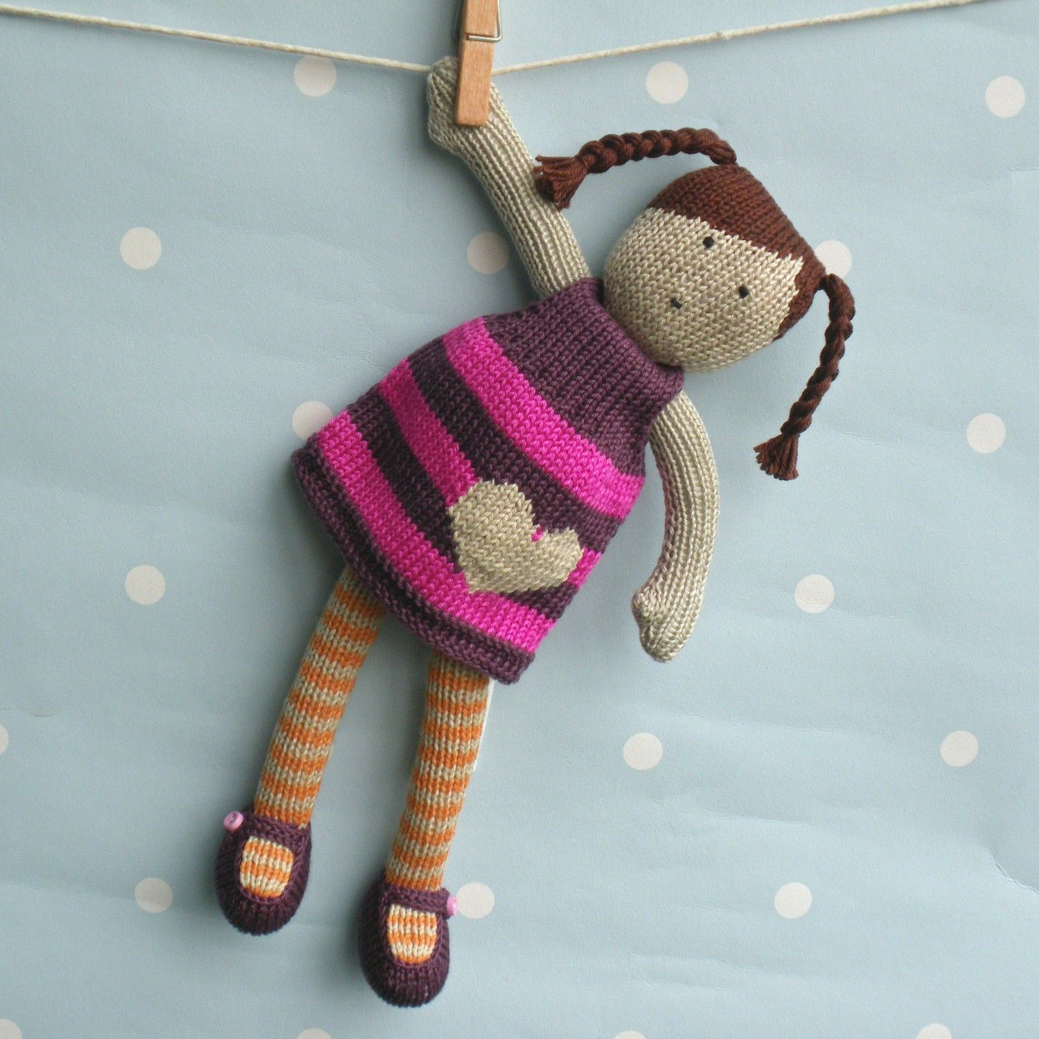 Dolls Patterns Knitting : Issy - Hand Knitted Doll Dolls, Etsy and Crochet