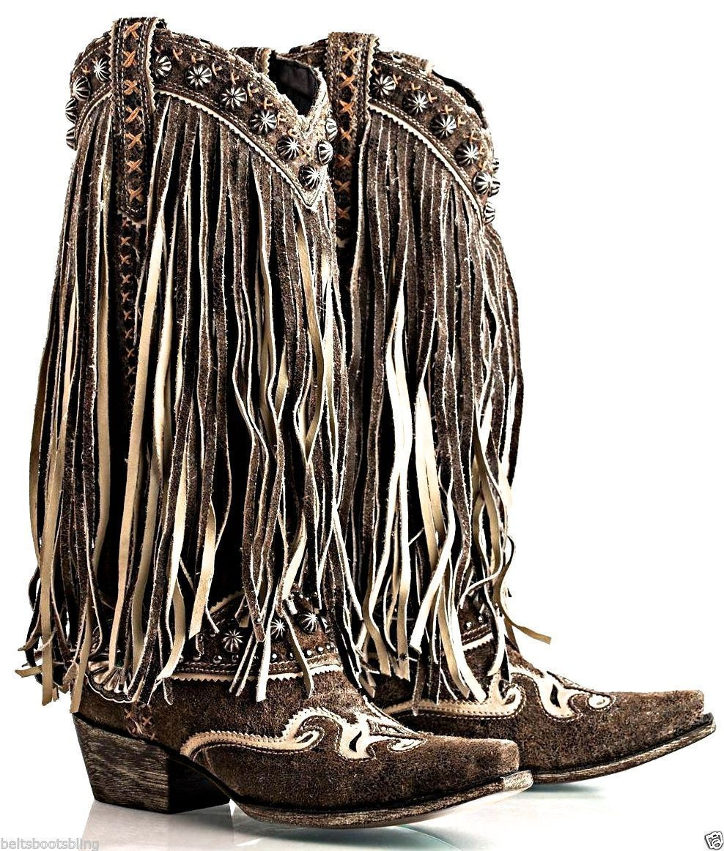 DD Ranch Prescott Fringed Scratched Black Boots