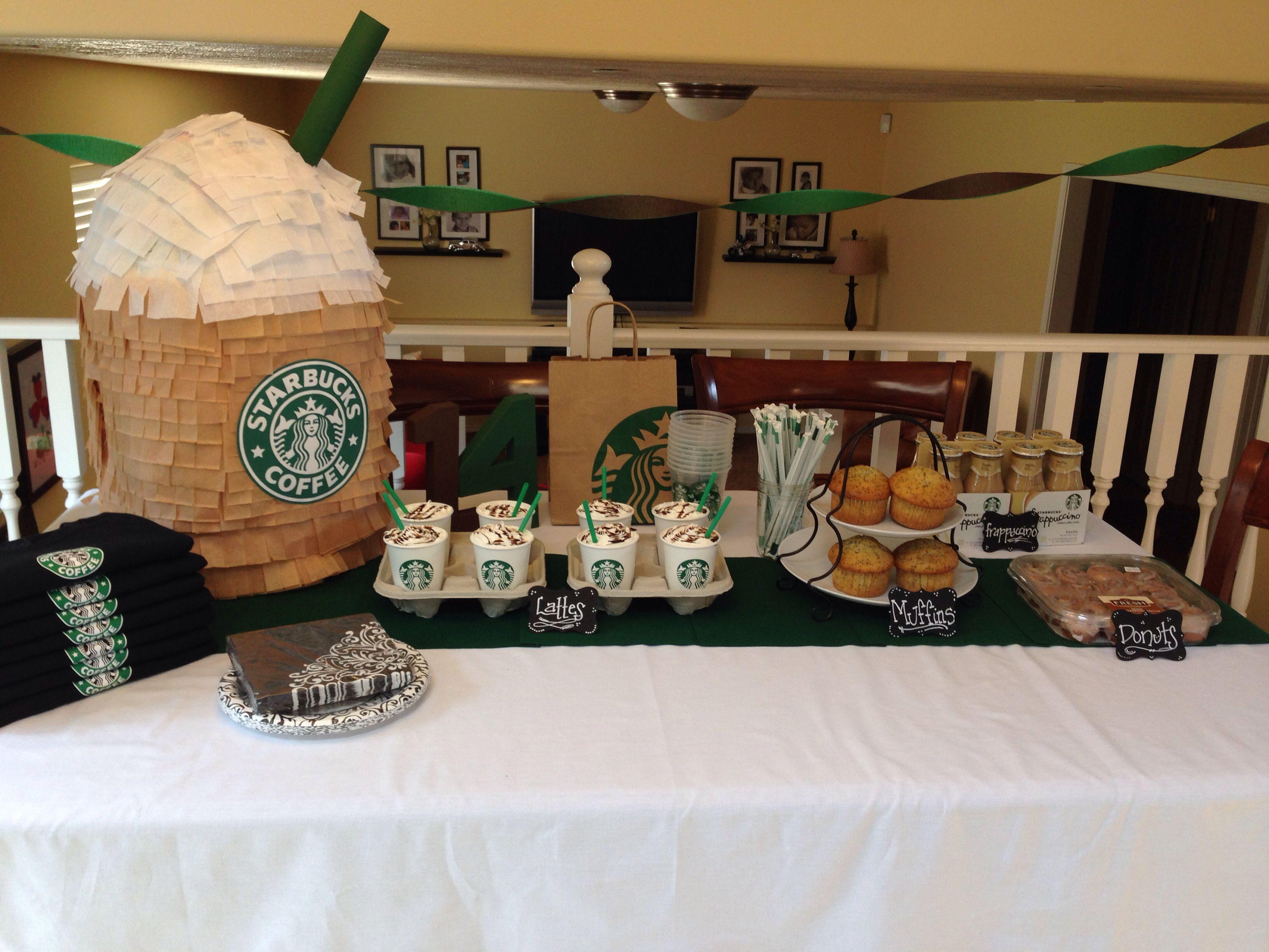 Starbucks party Party ideas Pinterest