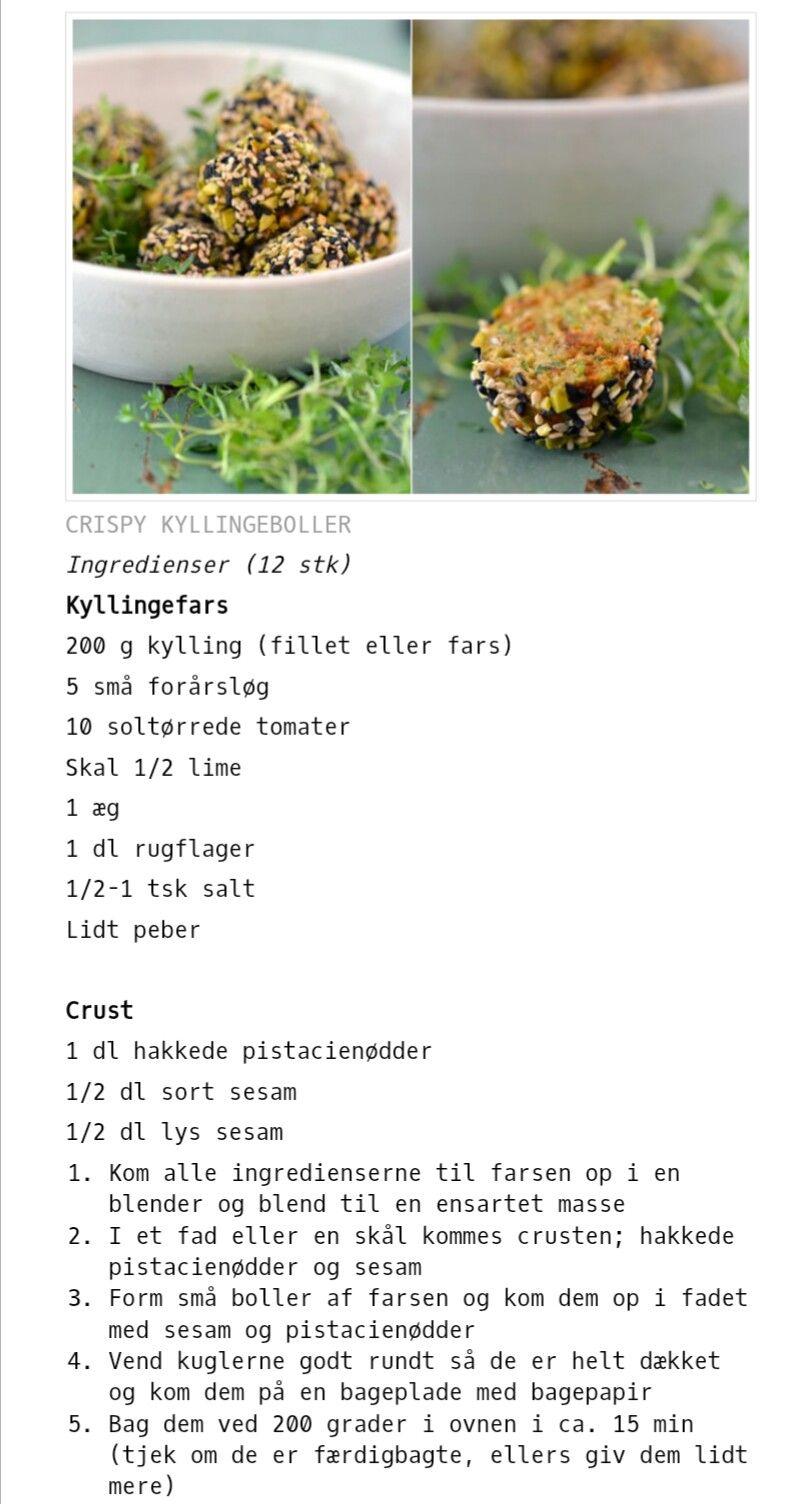 Crispy Kyllingeboller Med Rugflager Sesam Og Pistacie Kylling
