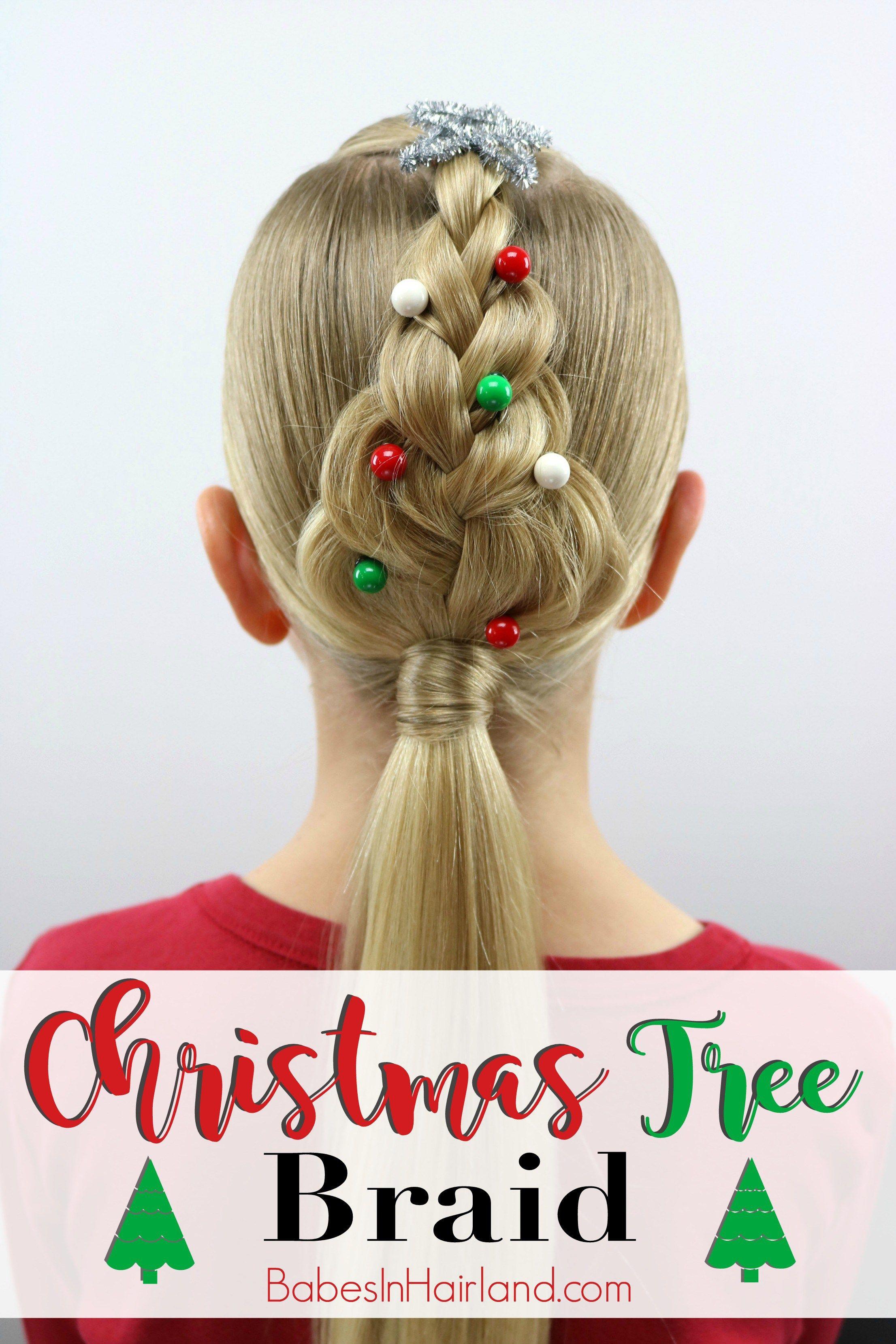 Christmas tree braid christmas hairstyles tree braids and easy