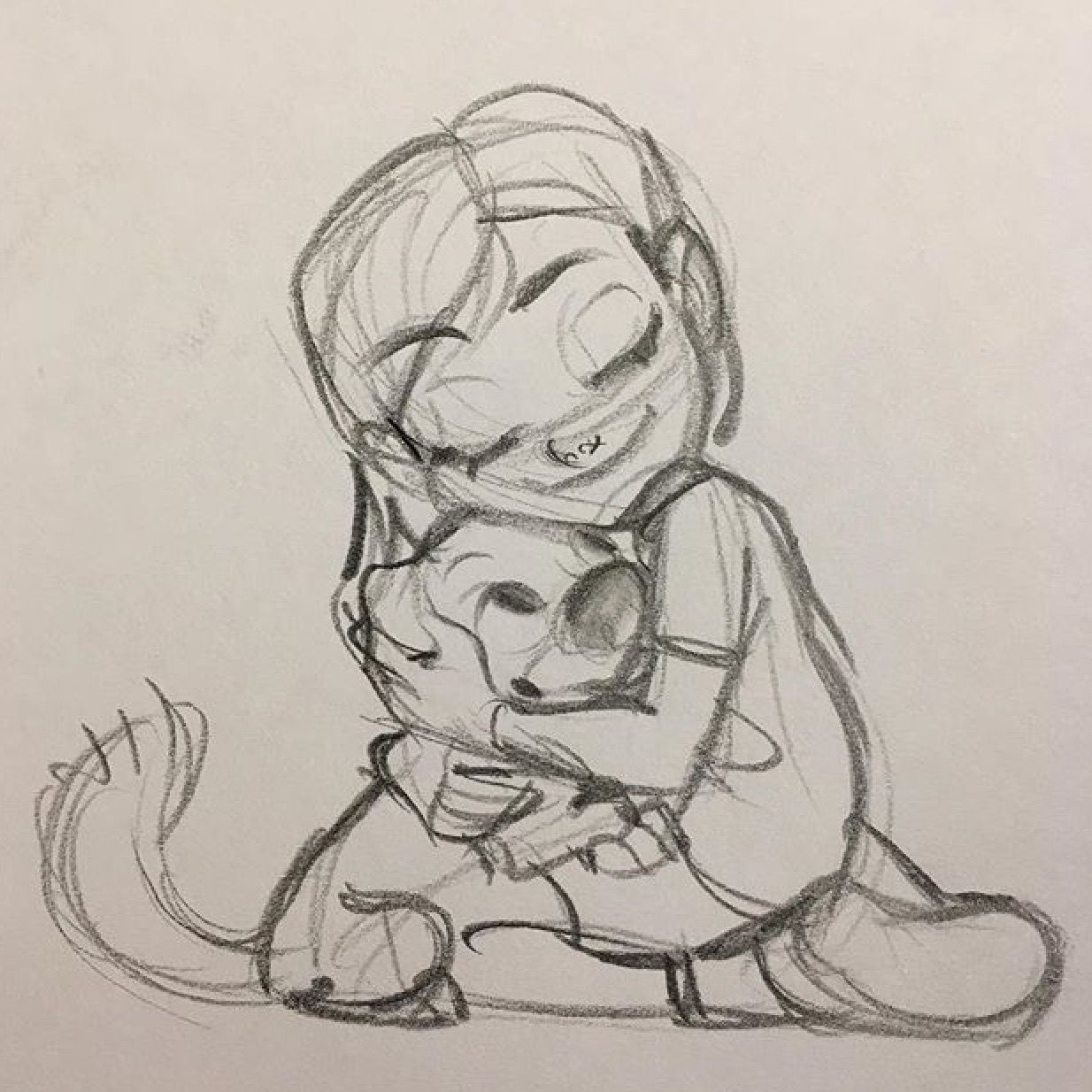 Penny and bolt sketch
