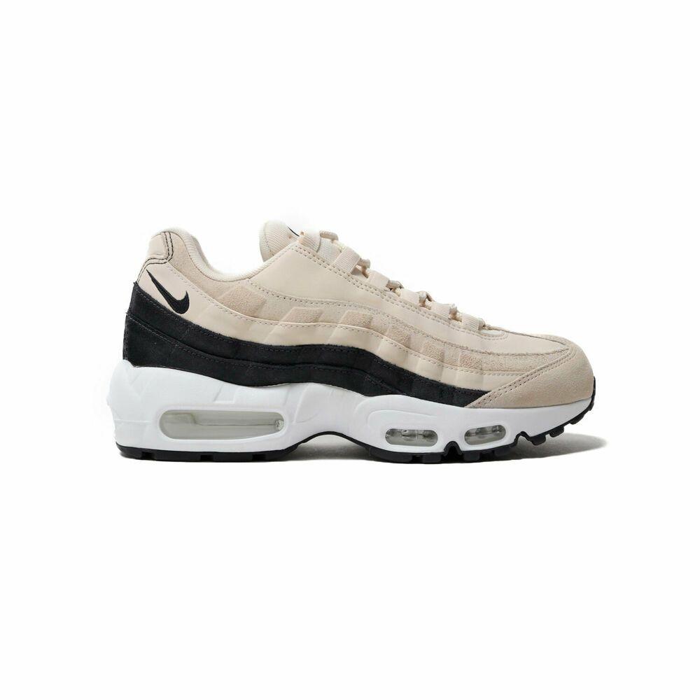 9702a6f5a646c Nike Women's Air Max 95 PRM Light Cream/White/Oil Grey 807443-203 ...