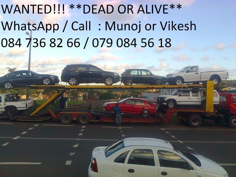 CASH FOR CARS & BAKKIES : NON RUNNERS - USED - ACCIDENT DAMAGED ...