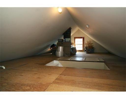 walk up attic ideas - tiny finished attic small attic Pinterest