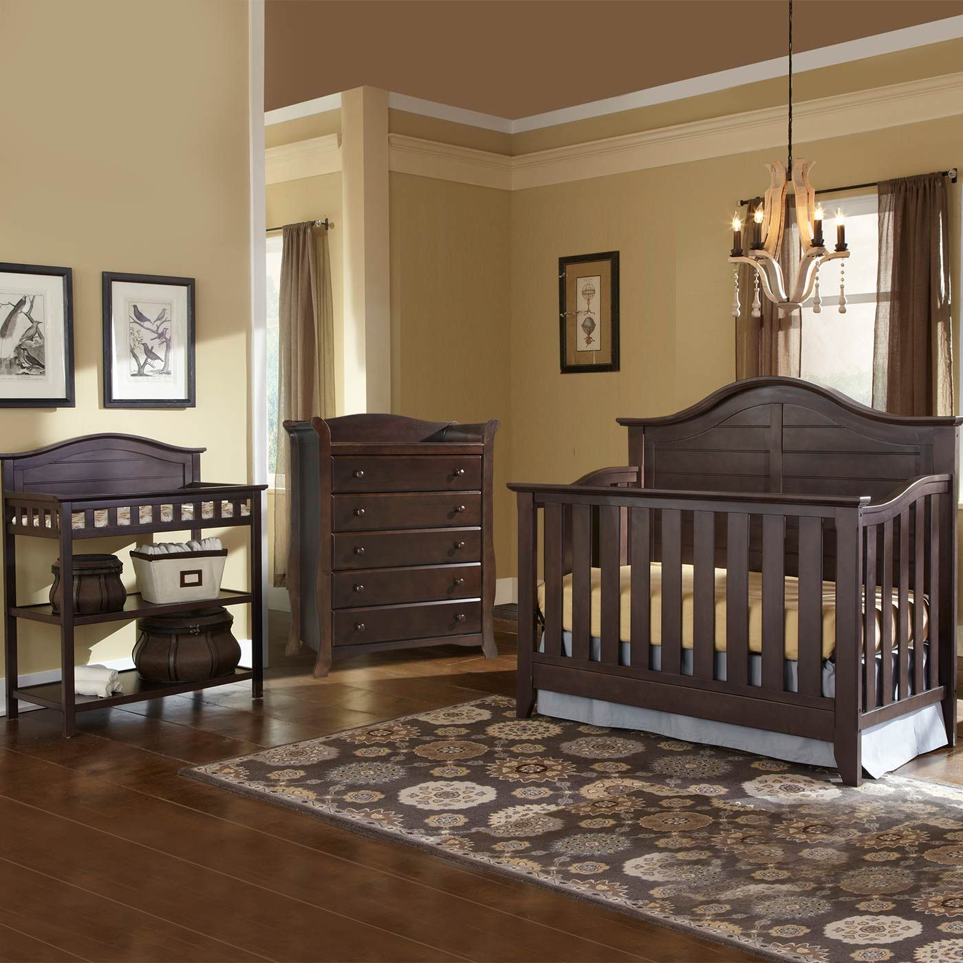 Thomasville 3 Piece Nursery Set Southern Dunes Lifestyle Crib Dressing Table And Avalon 5