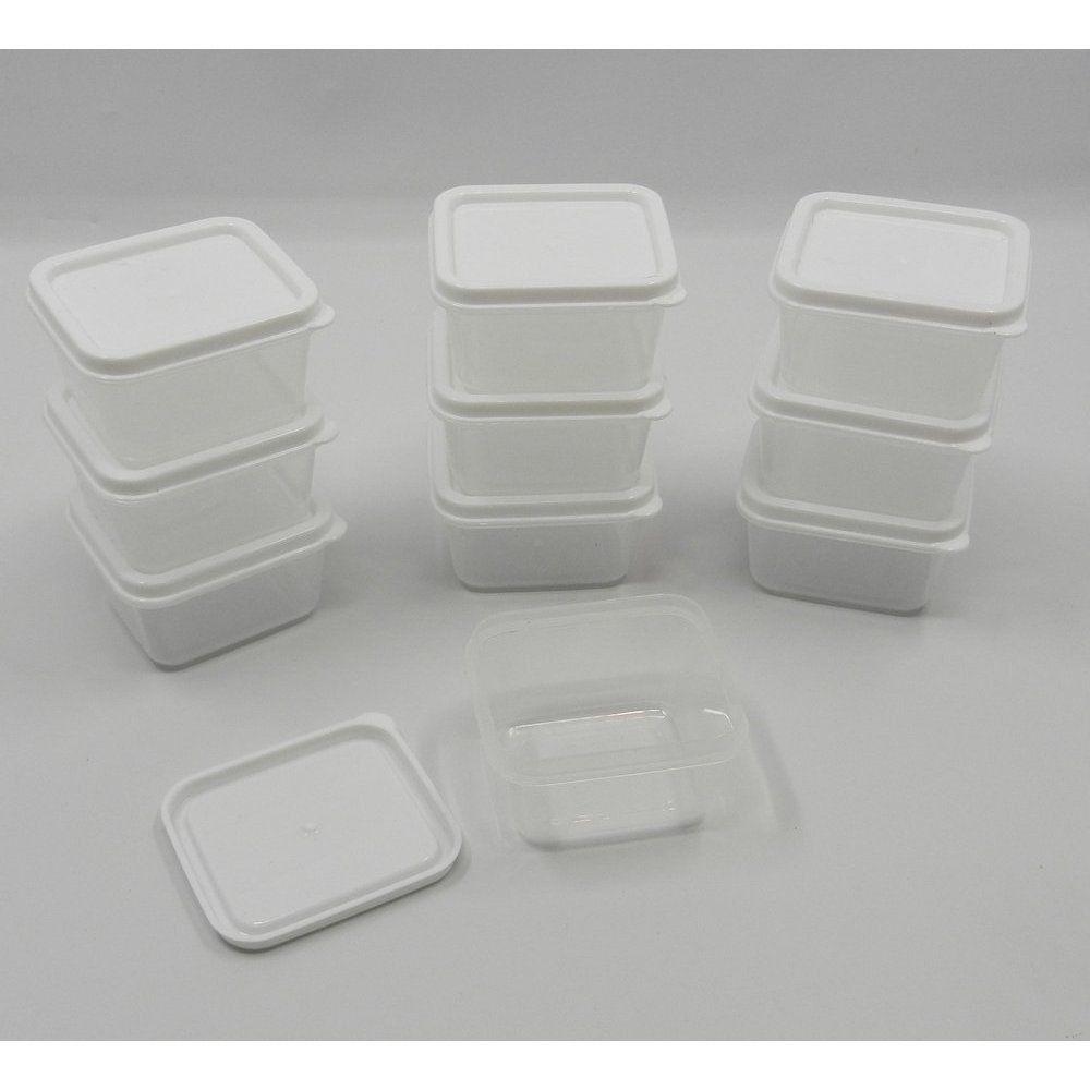 White Square Plastic Container Plastic Container Storage Small Plastic Storage Plastic Storage
