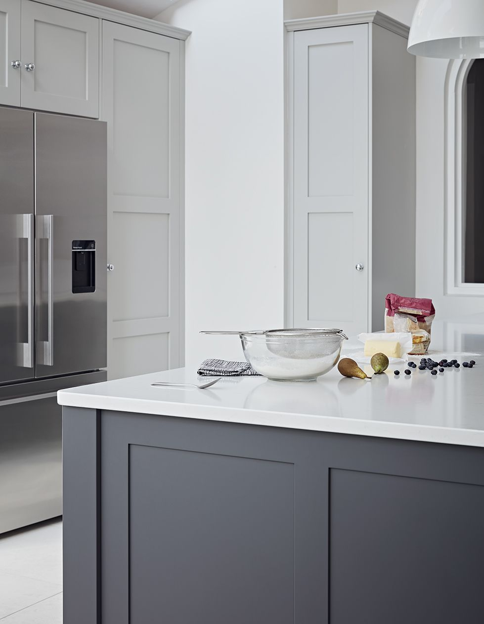 Timeless Original Shaker Kitchen By John Lewis Of Hungerford A Classic Mix Of Light And Kitchen Cabinets Painted Grey Grey Painted Kitchen Grey Shaker Kitchen