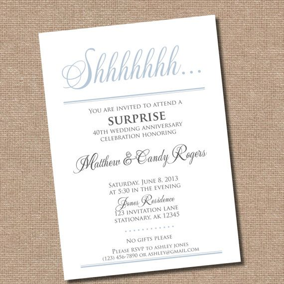 Surprise Party Invitation Digital File Only By GoodGraciousDesigns