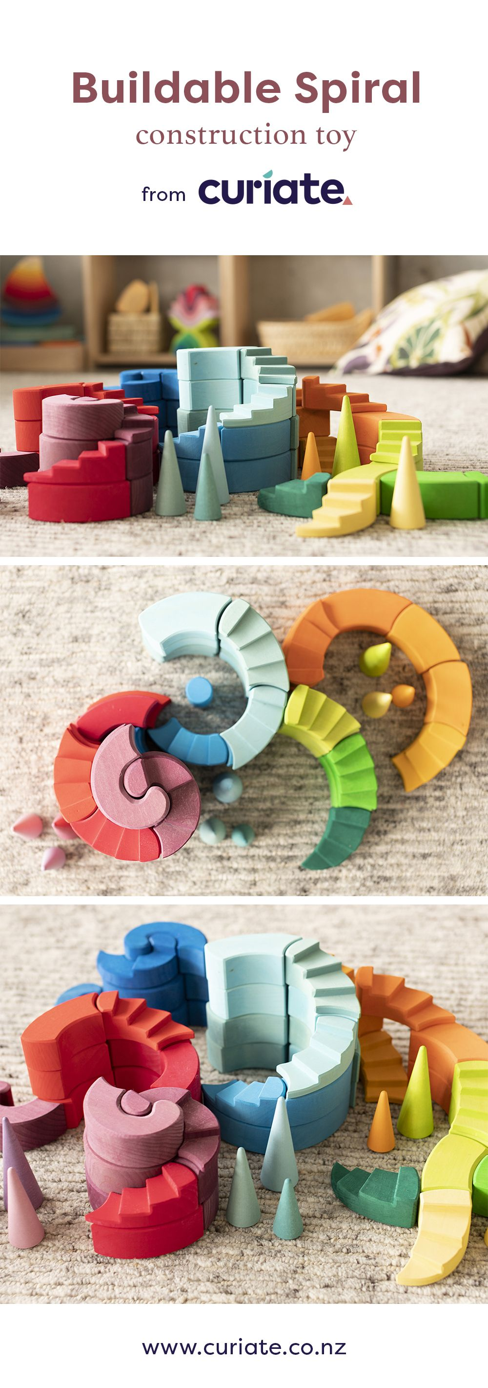 Best Grimm S Counterrotating Stepped Spiral Construction Toy 640 x 480