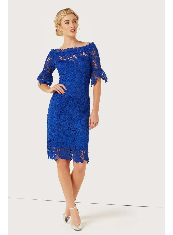 5085d0bb01dd **Paper Dolls Cobalt Crochet Dress Bride Groom Dress, Fit S, Crochet Lace