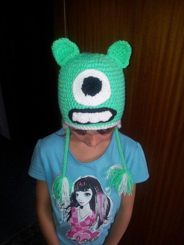 Kleine Monster Ag Mütze Gehäkelt Monster Mütze Gehäkelt Pinterest