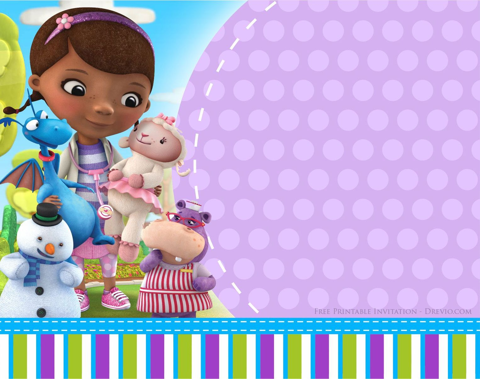 Doc Mcstuffins Birthday Invitation Templates Drevio Invitations Design