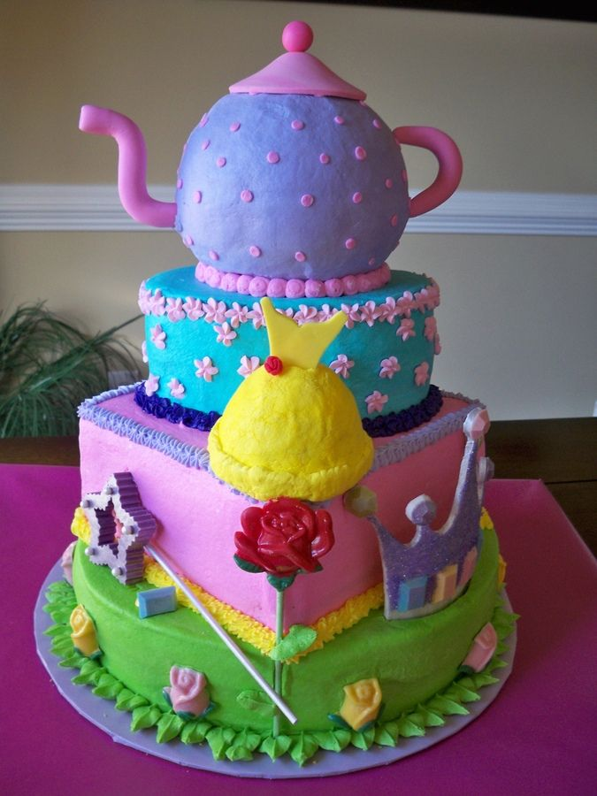 Princess Tea Party Cake Childrens Birthday Cakes Sweets