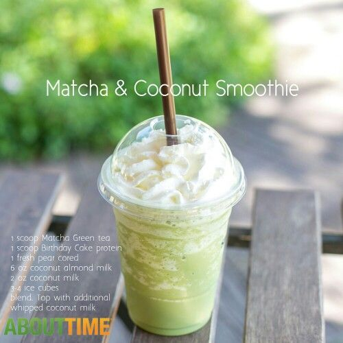 Matcha & Coconut Smoothie.