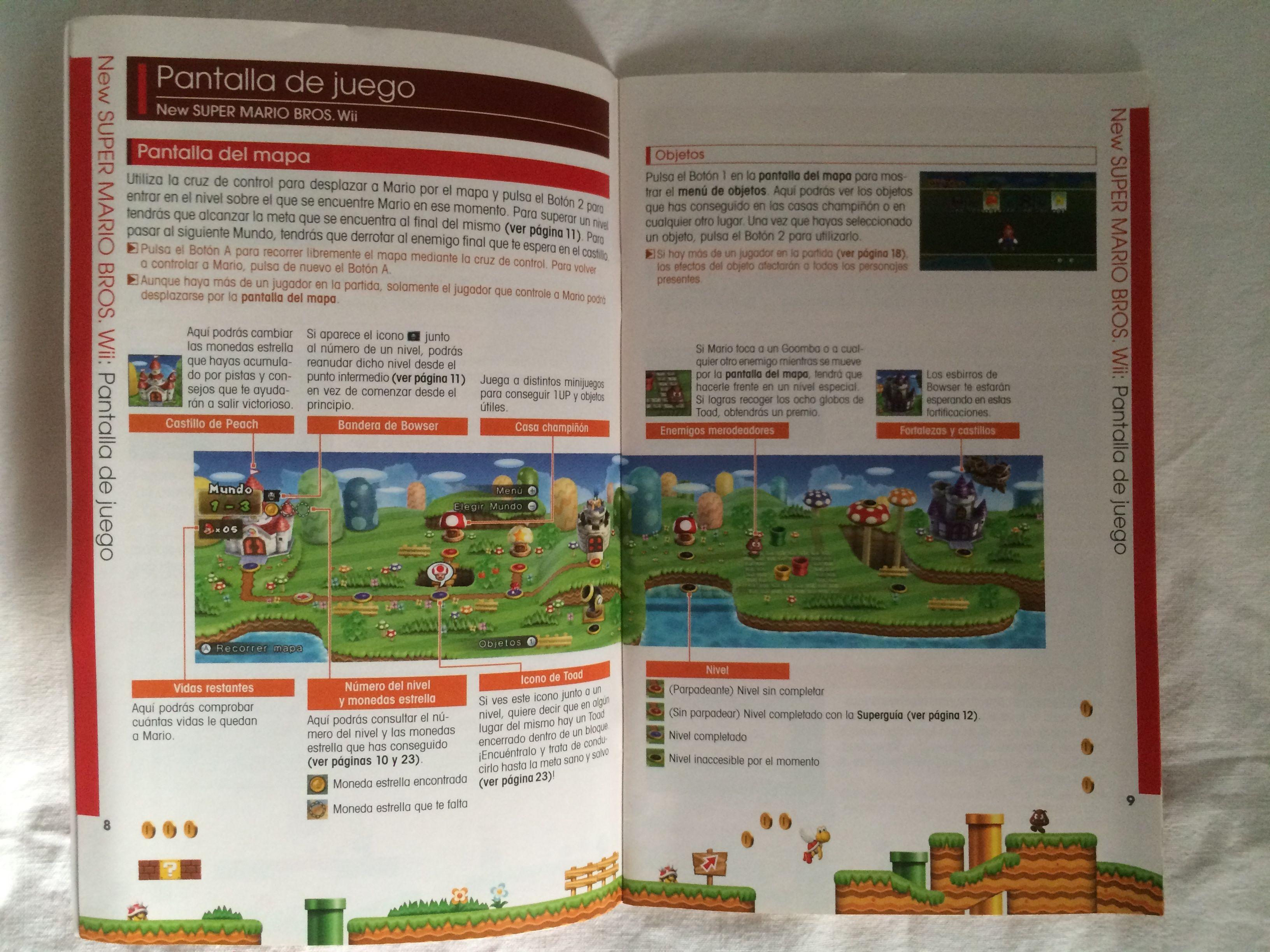 New Super Mario Bros Wii manual page. | New Super Mario Bros Wii ...