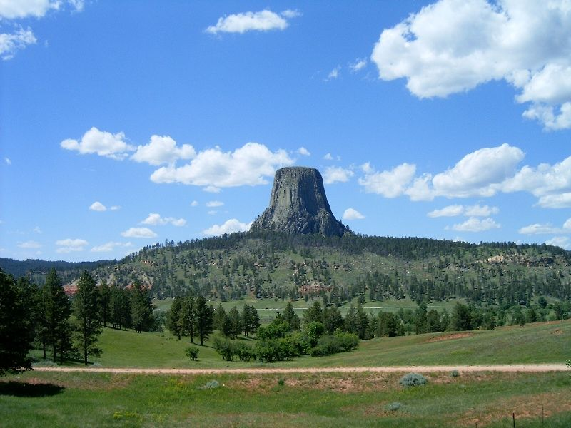 Devil's Tower in Wyoming shows how a big piece of rock can be a natural piece of art!  It really was quite impressive to see : )
