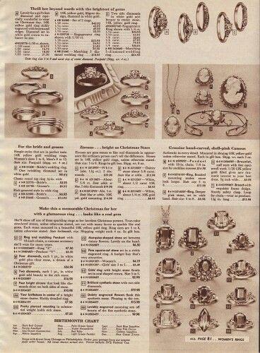 1947 Sears Christmas Catalog Women S Jewelry Diamond Engagement Rings Diamond And Plain M Vintage Engagement Wedding Rings Wedding Rings Vintage Jewelry Ads