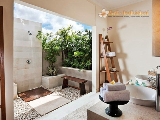 Villa songket bali individual 6 bathroom designs for Indoor outdoor bathroom design ideas