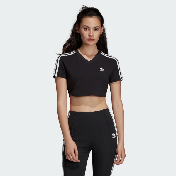 3 stripes Graphic Crop T shirt