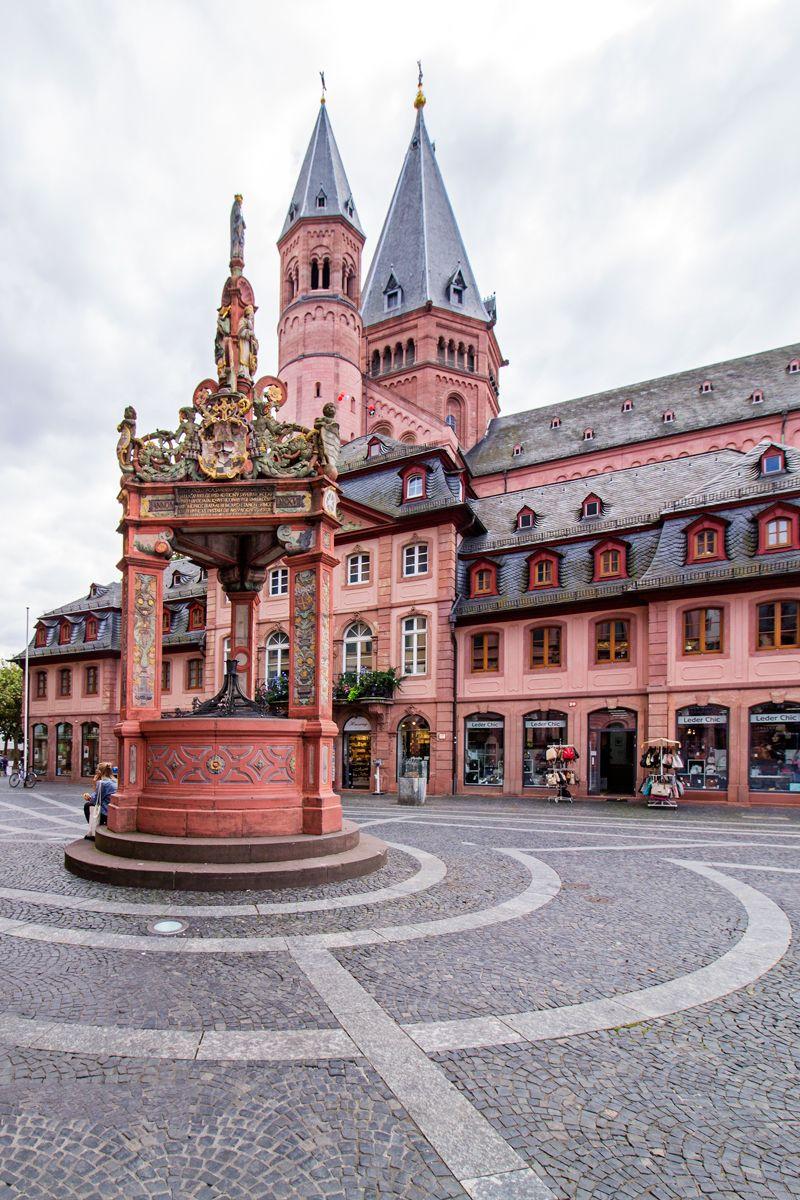 marktbrunnen mainz rheinland pfalz deutschland germany pinterest urlaubsziele in. Black Bedroom Furniture Sets. Home Design Ideas