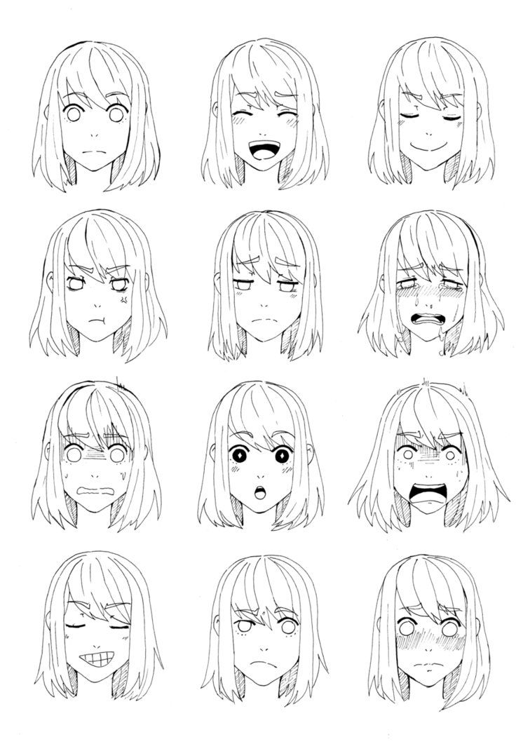 Kaori S Expressions By Maggiesoup On Deviantart Visage Manga