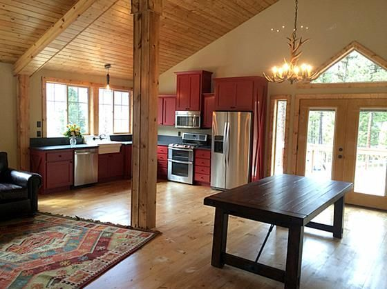 The denali barn apartment 36 pole barns pinterest for Pole building with apartment plans