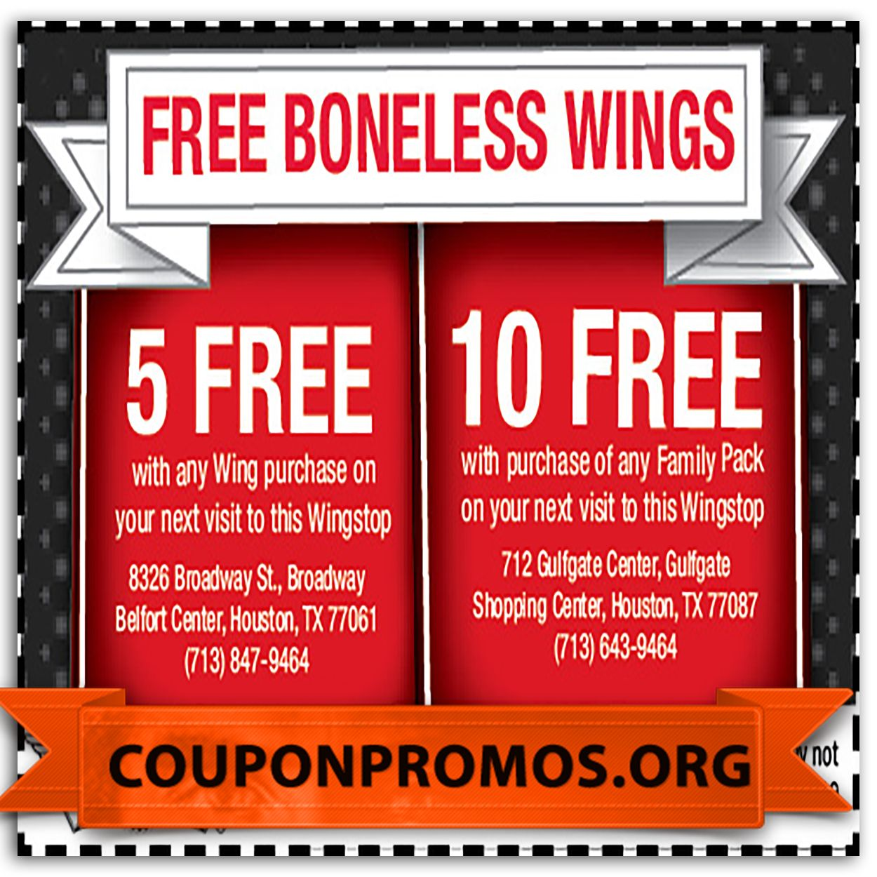 It's just a picture of Versatile Wingstop Coupons Printable