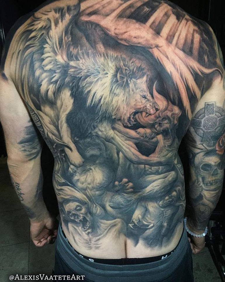 Pin by Tattoo Ideas on | Back tattoos, Full back tattoos ...