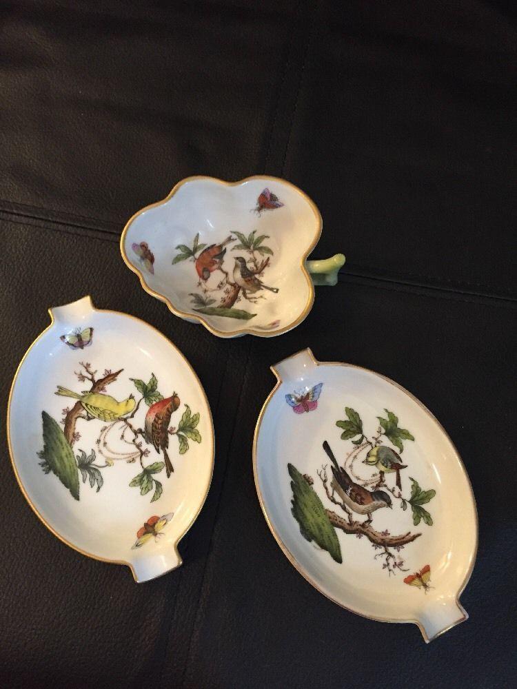 Herend China \u0026 Dinnerware   eBay & Lot of 3 Herend Hungary Rothschild Bird Ashtray Handle Dish   eBay ...