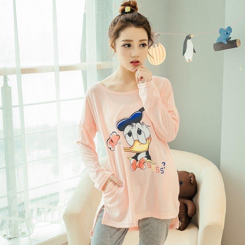 6efc237893 New Listing Pajama Sets 2017 Autumn Winter Pyjamas Women Cute Pijama  Pattern Pajamas Set Cotton Pijama