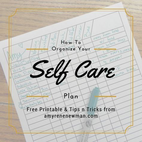 How To Organize Your Self Care Plan #PersonalDevelopmentactivities - care plan