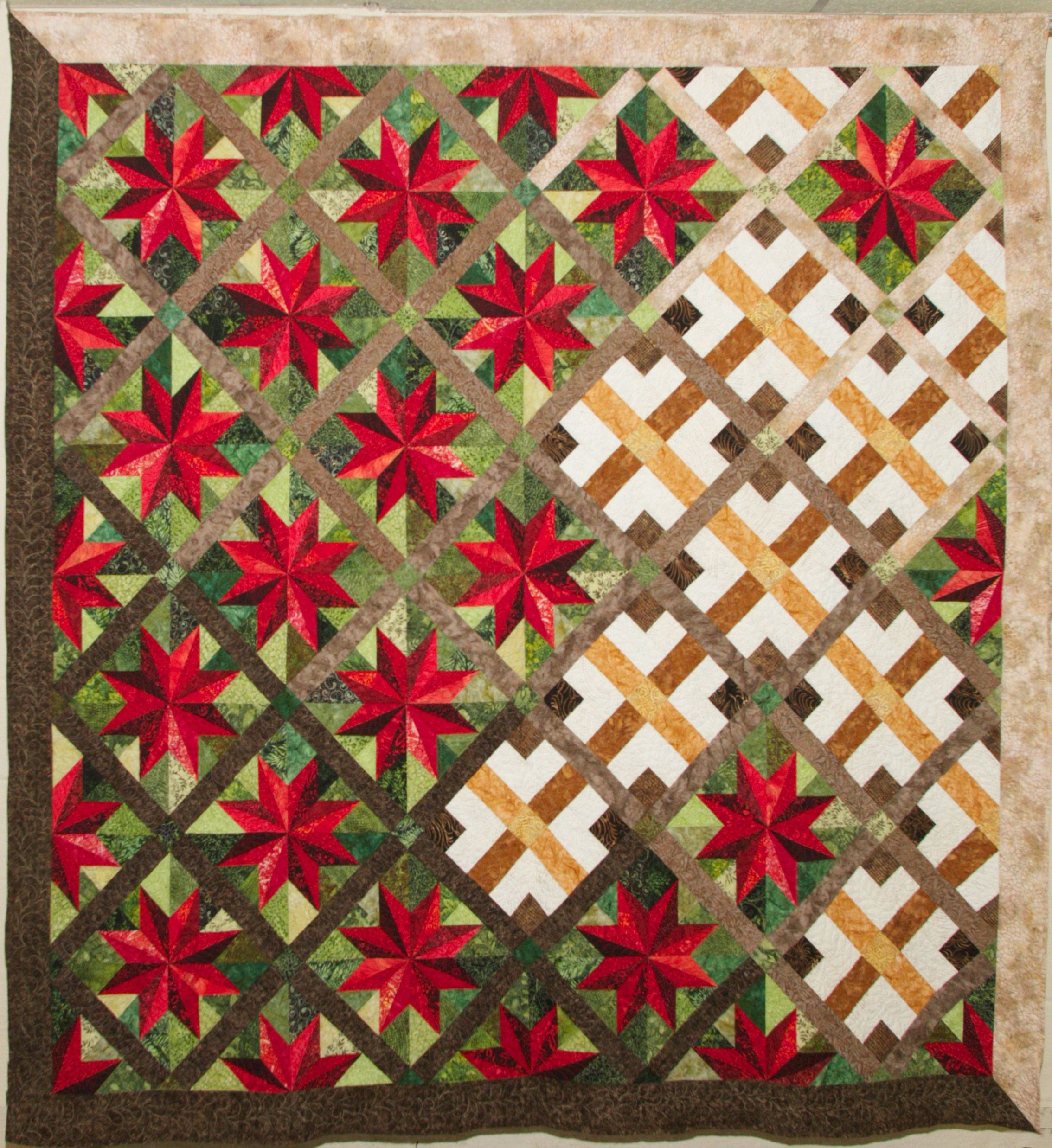 Cherokee Rose - what an interesting use of color and design ... : quilts photos - Adamdwight.com
