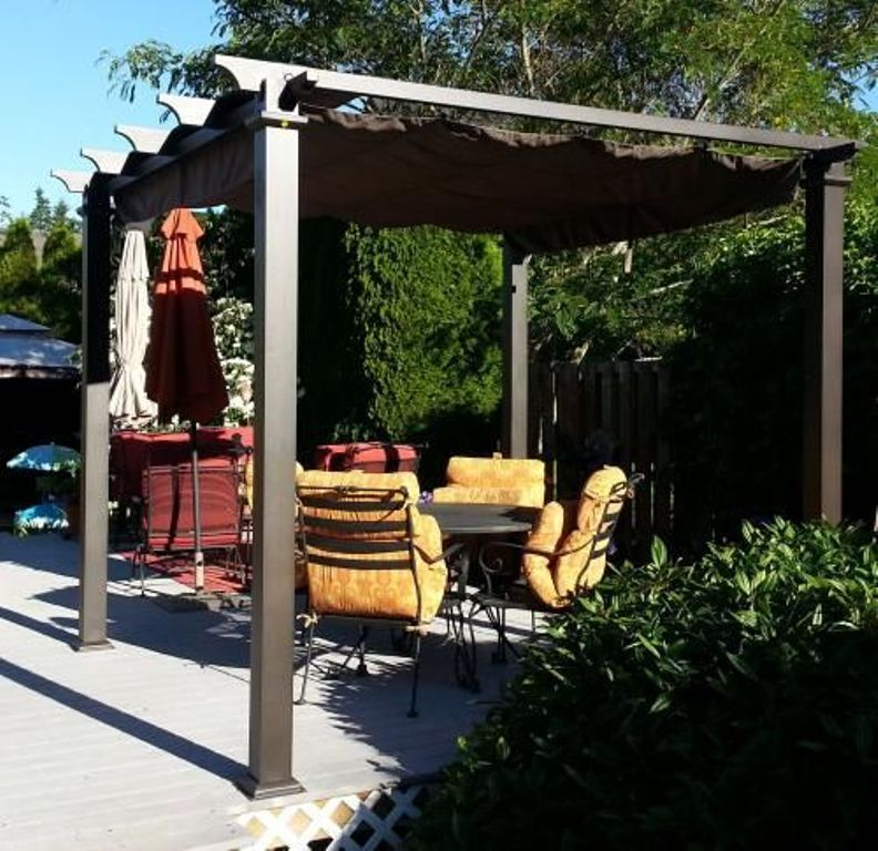 Exterior Pleasing Steel Pergola Details And Steel Pergola