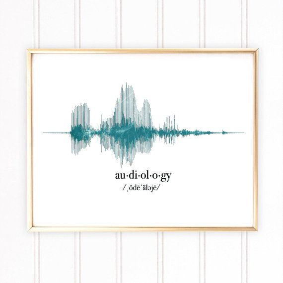 Audiology Gift, Audiologist Gift, Sound Wave Art Print, ENT Gifts ...