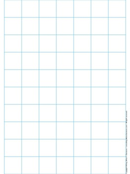 Graph Paper Full Page Grid   Inch Squares  X Boxes  No