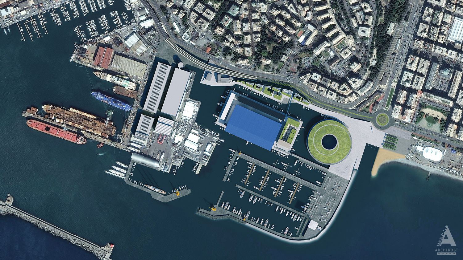 Reconstruction of genoa port area for the blueprint competition by reconstruction of genoa port area for the blueprint competition by rostislav architecture 3d malvernweather Images
