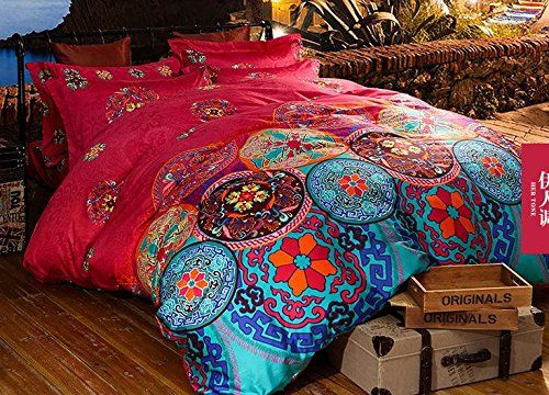 cliab boho bedding bohemian bedding exotic bedding full egyptian cotton duvet cover set cliab. Black Bedroom Furniture Sets. Home Design Ideas