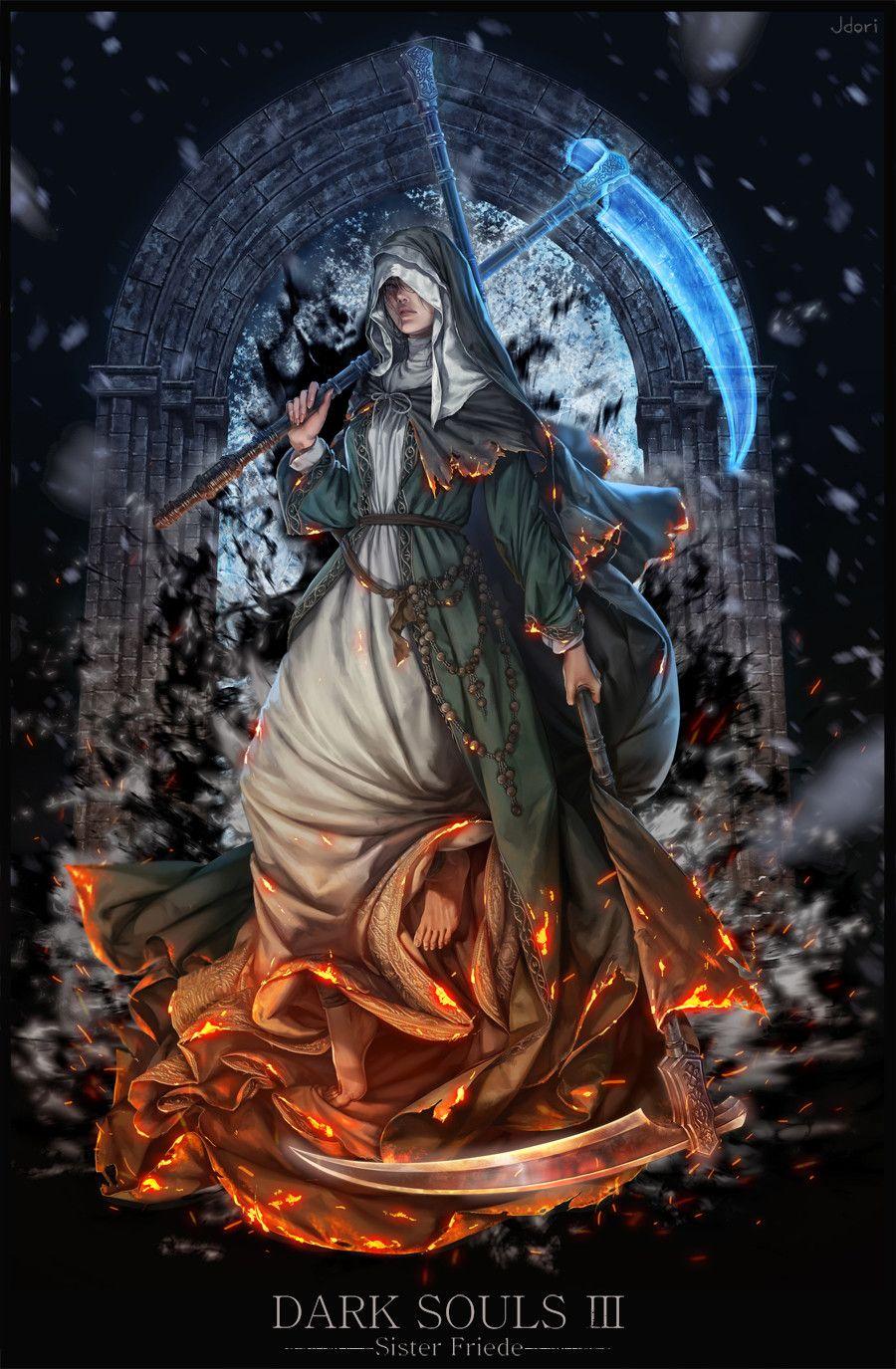 Dark Souls Fan Art Sister Friede Hannah Ji Dark Souls Artwork