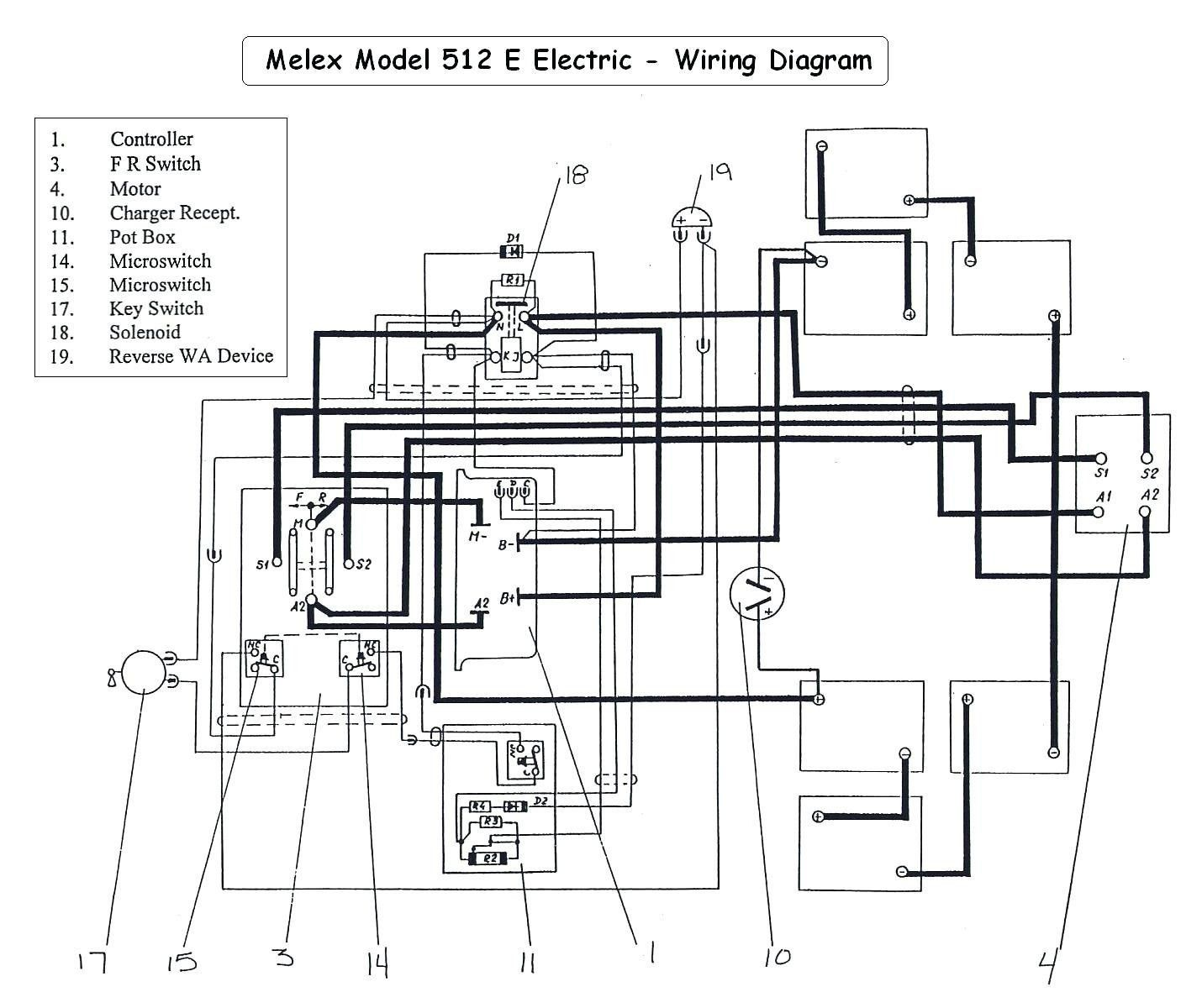 1992 Ez Go Wiring Diagram Golf Carts Electric Golf Cart Golf Cart Parts